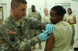 U.S. military mandatory swine flu vaccine