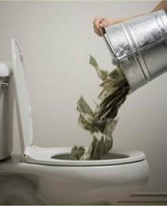 Money Down The Toilet Over 3 Trillion Dollars Spent By Barack Obama