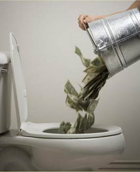 Money Down The Toilet Over 3 Trillion Dollars Spent By Barack Obama