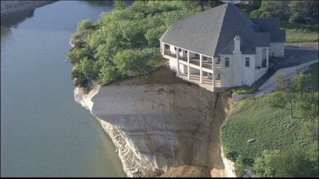 Luxury Home Falls Off Cliff