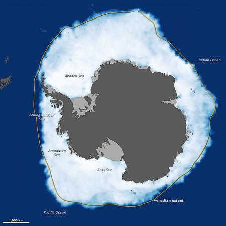 Antarctic Sea Ice Grows - Public Domain