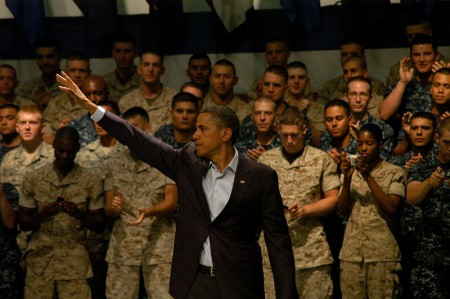 Barack Obama And The Troops