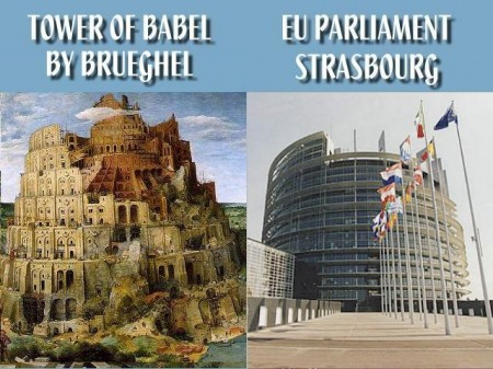 EU Parliament Tower Of Babel