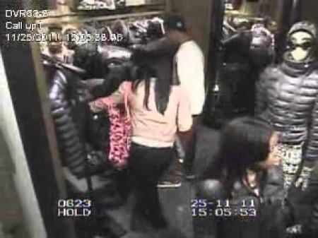 Flash Mob Shoplifting