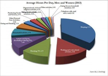 How Americans Spend Their Time - Zero Hedge
