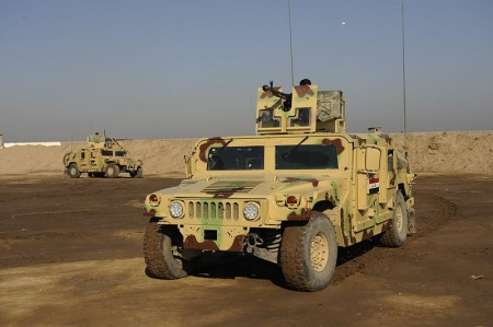 Humvees of the new Iraqi Army - Public Domain