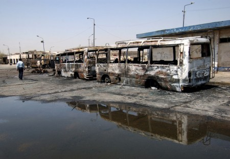 Iraq Terror Attack on Buses - Public Domain