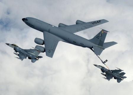 KC-135 Refueling F-16s - Public Domain