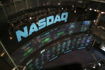 NASDAQ stock market displays at Times Square - Photo by bfishadow on Flickr