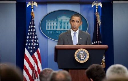 Obama Press Briefing - Public Domain