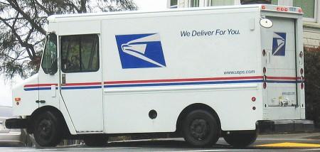 Postal Service Truck - Public Domain