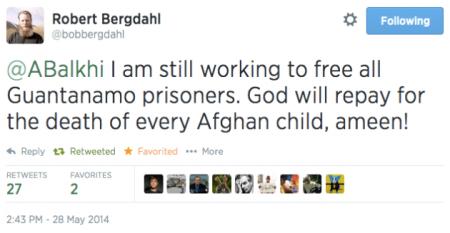 Robert Bergdahl Tweet