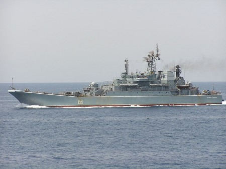 Russian Warship - Photo by Luis Díaz-Bedia Astor