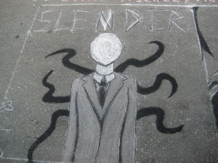 Slender Man graffitti - Photo by mdl70