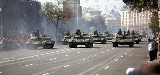 Ukrainian_T-64_tanks_on_parade - Photo by Michael
