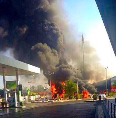 A fire in Ashdod caused by a Gaza rocket - Photo by IDF