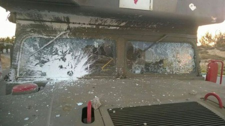Ambulance - Windows Shattered - Photo from Facebook
