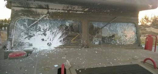 Ambulance - Windows Shattered - Photo from Facebook
