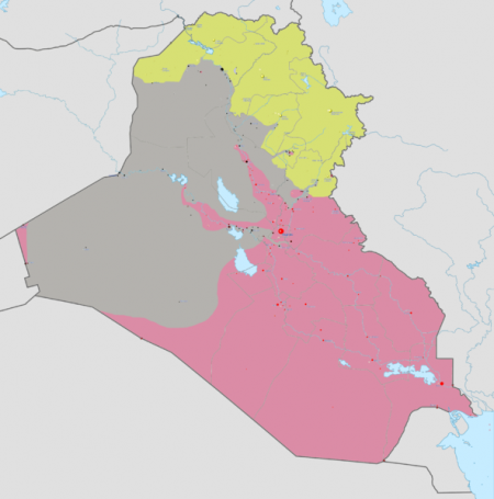 Area Controlled By Kurds In Yellow - Photo by Absalao777