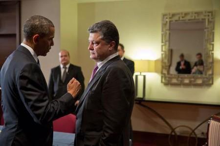 Barack Obama meets with Petro Poroshenko, June 5th 2014 - Public Domain
