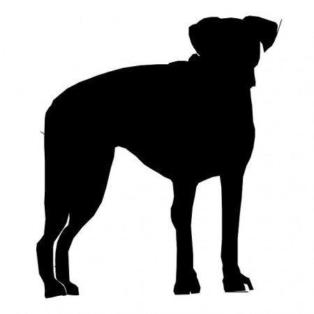 Dog Silhouette - Public Domain