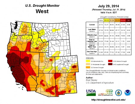 Drought Monitor July 29