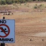 Drought - No Swimming Sign - Photo by Peripitus