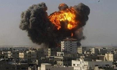 Gaza Explosion - Photo by Lindton Rexhepi