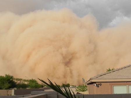 Haboob - Giant Dust Storm In Phoenix, Arizona - Photo By Roxy Lopez
