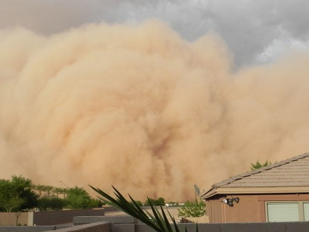 Haboob - Giant Dust Storm In Phoenix, Arizona - Photo By Roxy Lopez