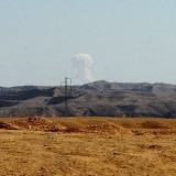 Hamas Rocket Explosion - Photo by Alfredas
