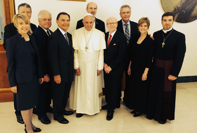 Kenneth Copeland and James Robison meet with the Pope