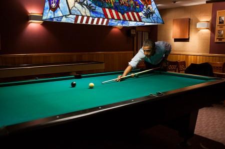 Obama Shooting Pool - Public Domain