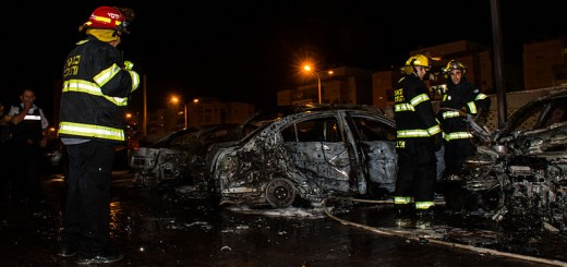 Operation_Protective_Edge - Cars Destroyed By Rockets From Gaza