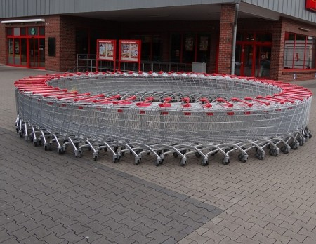 Shopping Carts In A Circle - Public Domain