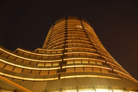 The Bank For International Settlements at Night - Photo by Wladyslaw