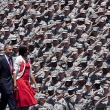 Army Saluting Barack Obama