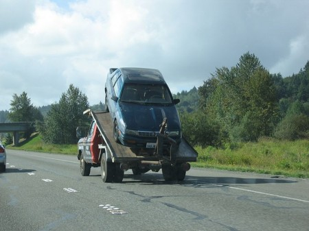 Car Towing - Photo by Tom Harpel