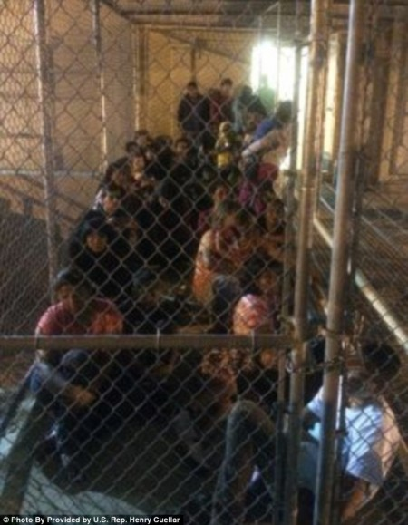 Illegal Immigrants Caged - Photo from U.S. Rep. Henry Cuellar