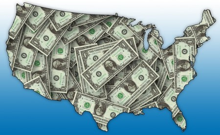 U.S. Map Money - Public Domain