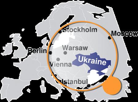 Ukraine Map - Public Domain