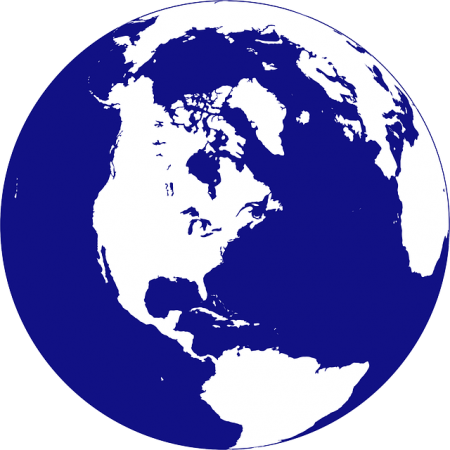 United States On A Globe - Public Domain