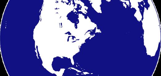 United States On A Globe - Public Domain