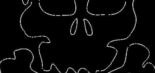 skull black silhouette cross bones death - Public Domain