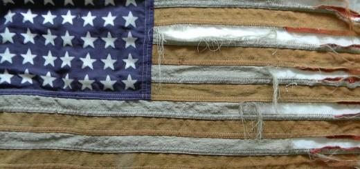 American Flag Tattered - Public Domain