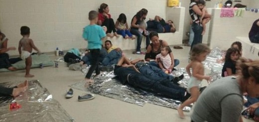 Illegal Immigrants Sleeping On Floor - Photo from U.S. Rep. Henry Cuellar