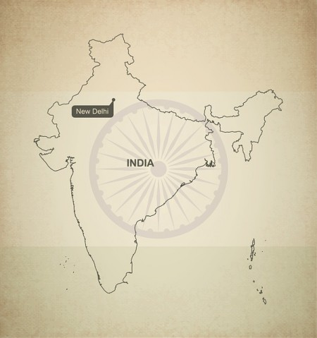 India Map - Public Domain