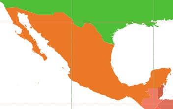 Mexico Map - Public Domain