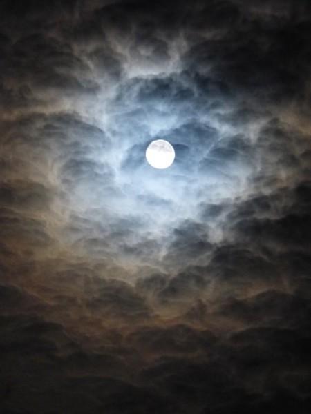 Moon At Night - Public Domain