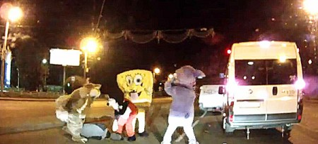 Spongebob Squarepants And Mickey Mouse Wanted By Authorities For Bizarre Road Rage Attack